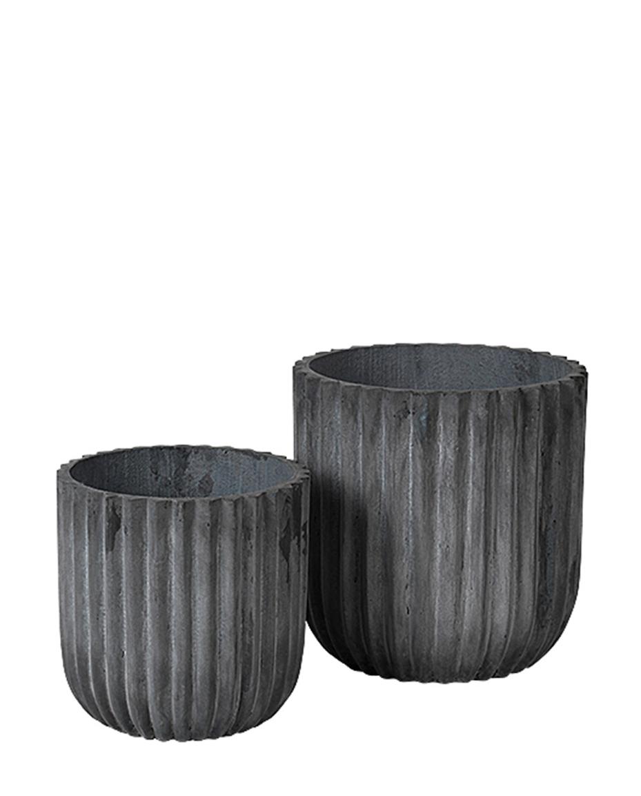 Blumentopf Set Fiber Cylinder von Broste Copenhagen