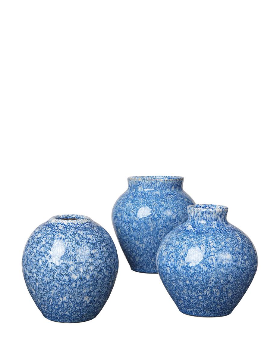 Vase Set Ingrid insignia blue von Broste Copenhagen