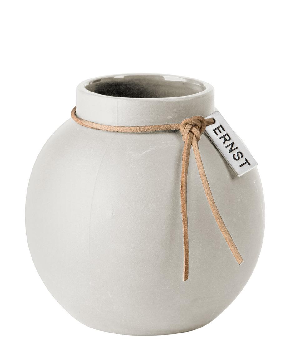 Vase Stoneware round white von ERNST